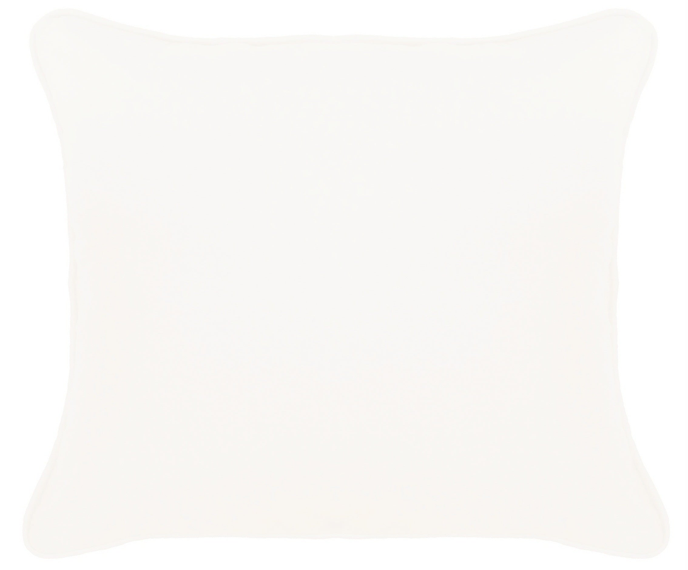White Cushion Cover With Piping Cotton
