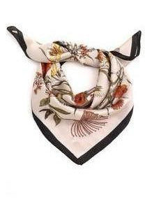 Patterned Satin Scarf