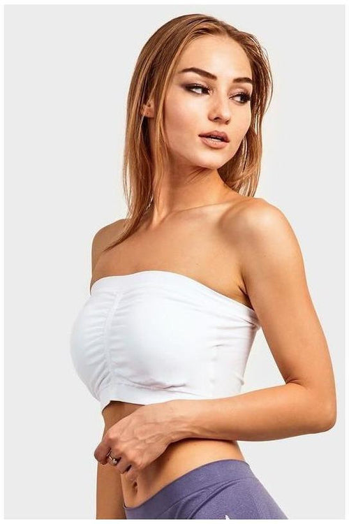 Seamless Bandeau With Removable Pads