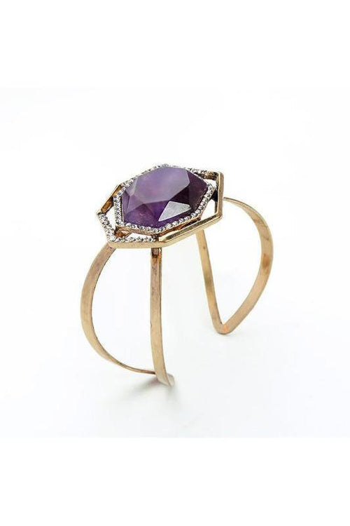 Chunky Amethyst Cuff - RMC Boutique