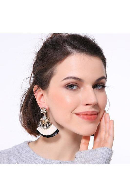 Resort Glam Raffia Tassel Earrings - RMC Boutique