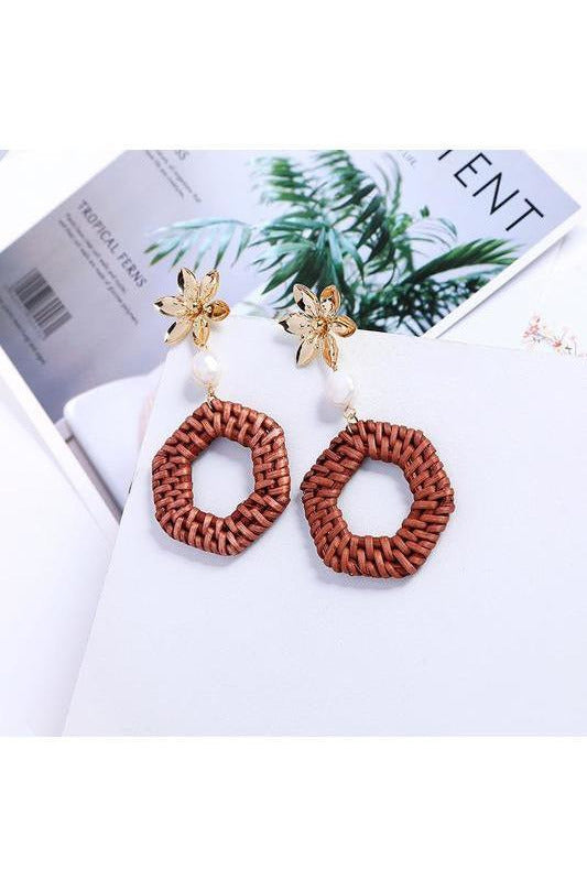 Bali Threaded Straw Statement Earrings - RMC Boutique