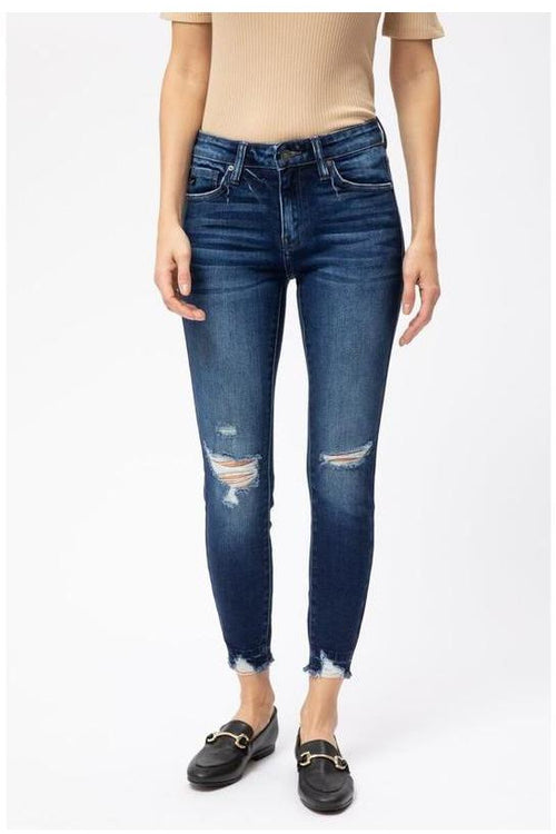 KanCan Jeans: GEMMA MID RISE ANKLE SKINNY