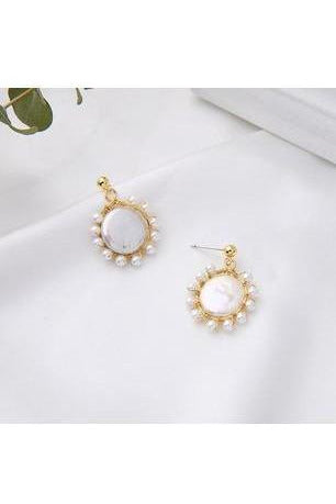Dainty Fresh Water Pearl Drop Earrings - RMC Boutique