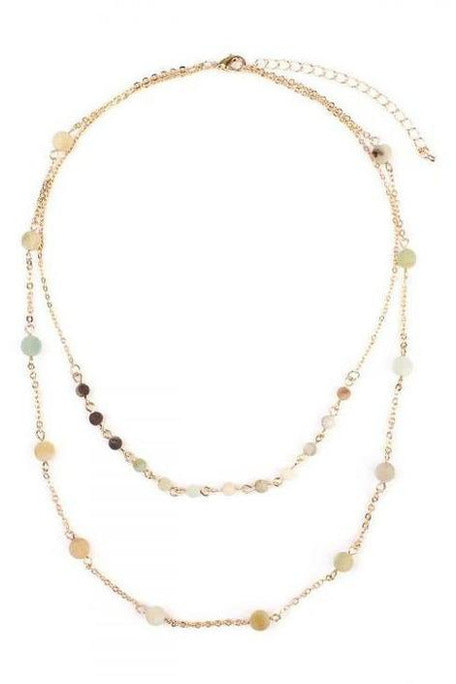 Amanzonite Double Layer Necklace