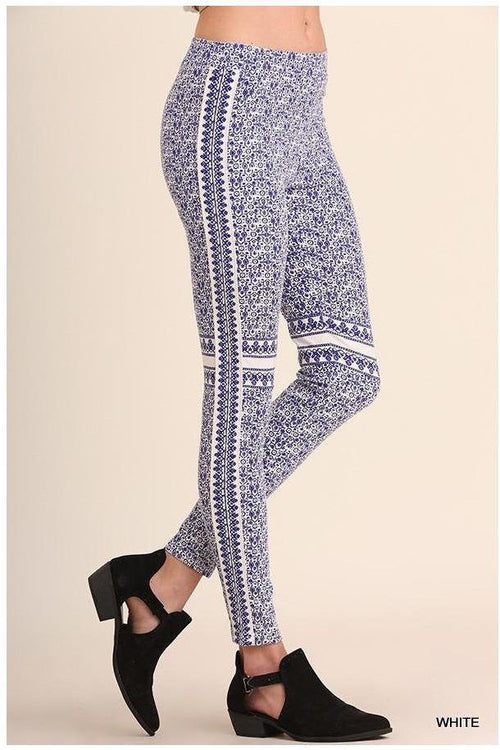 Porcelain Print Leggings