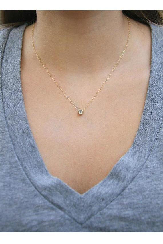Wander + Lust Jewelry - Yellow Gold CZ Necklace