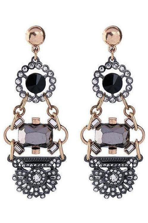 Glitzy Glamour Statement Earrings
