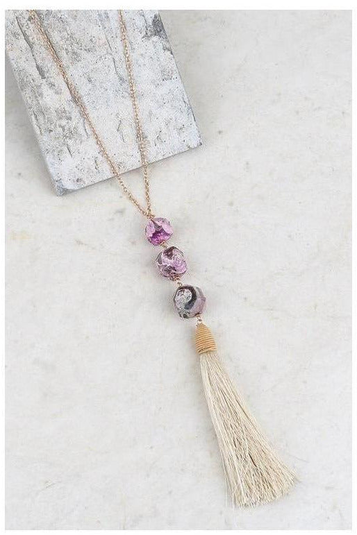 Tessa's Tassel Dazzle Necklace