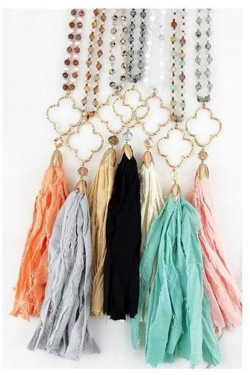 Sydney's Clover Tassel Necklace