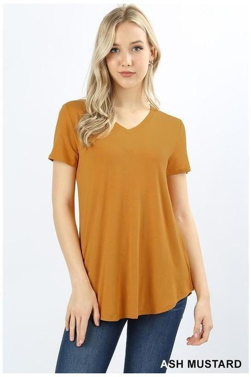 Round Sleeve Basic Tee - RMC Boutique