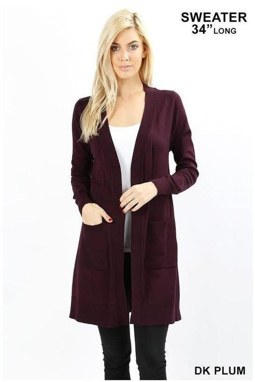 Long Sleeve Open Cardigan - RMC Boutique