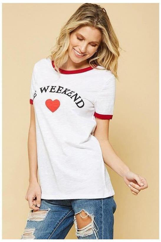 LE WEEKEND GRAPHIC TEE