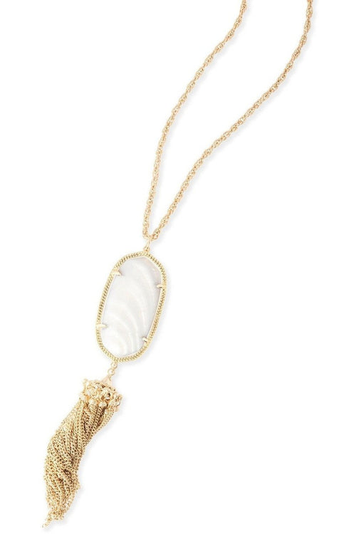 Kendra Scott: Rayne Necklace In White Pearl