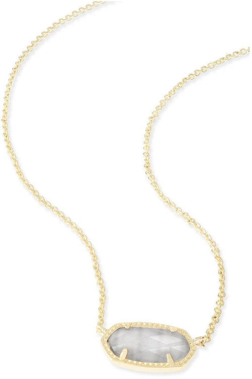 Kendra Scott: Elisa Gold Pendant Necklace In Slate
