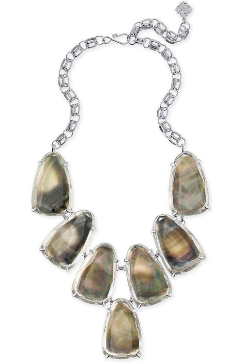 Kendra Scott: Harlow Statement Necklace In Suspended Black Pearl
