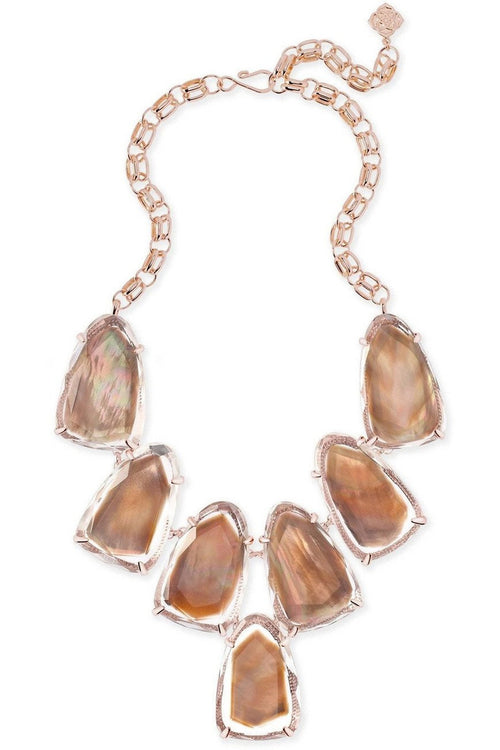 Kendra Scott: Harlow Statement Necklace In Suspended Brown Pearl