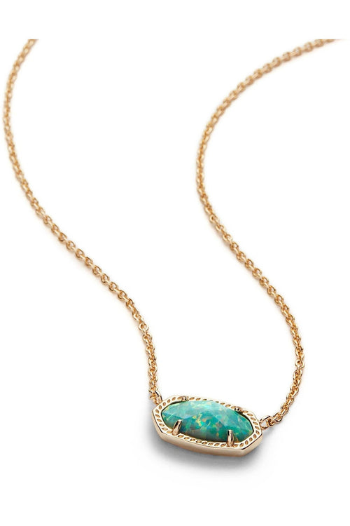 Kendra Scott: Elisa Pendant Necklace In Aqua Kyocera Opal