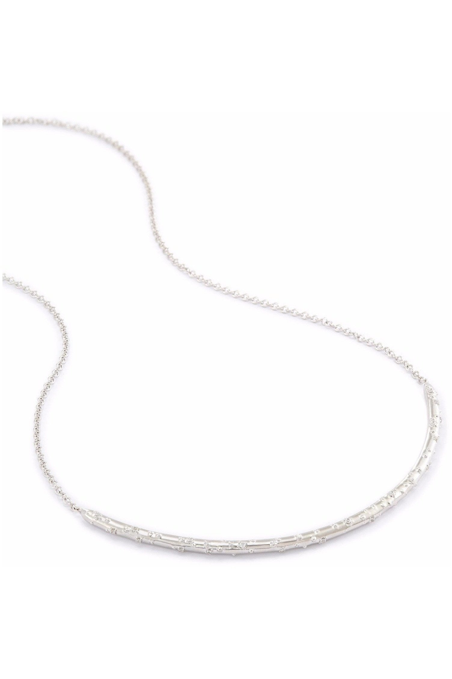 Kendra Scott: Amber Choker Necklace In Silver