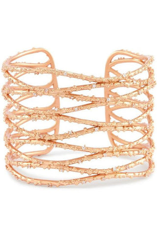 Aylin Gold Long Necklace in Peach Mix