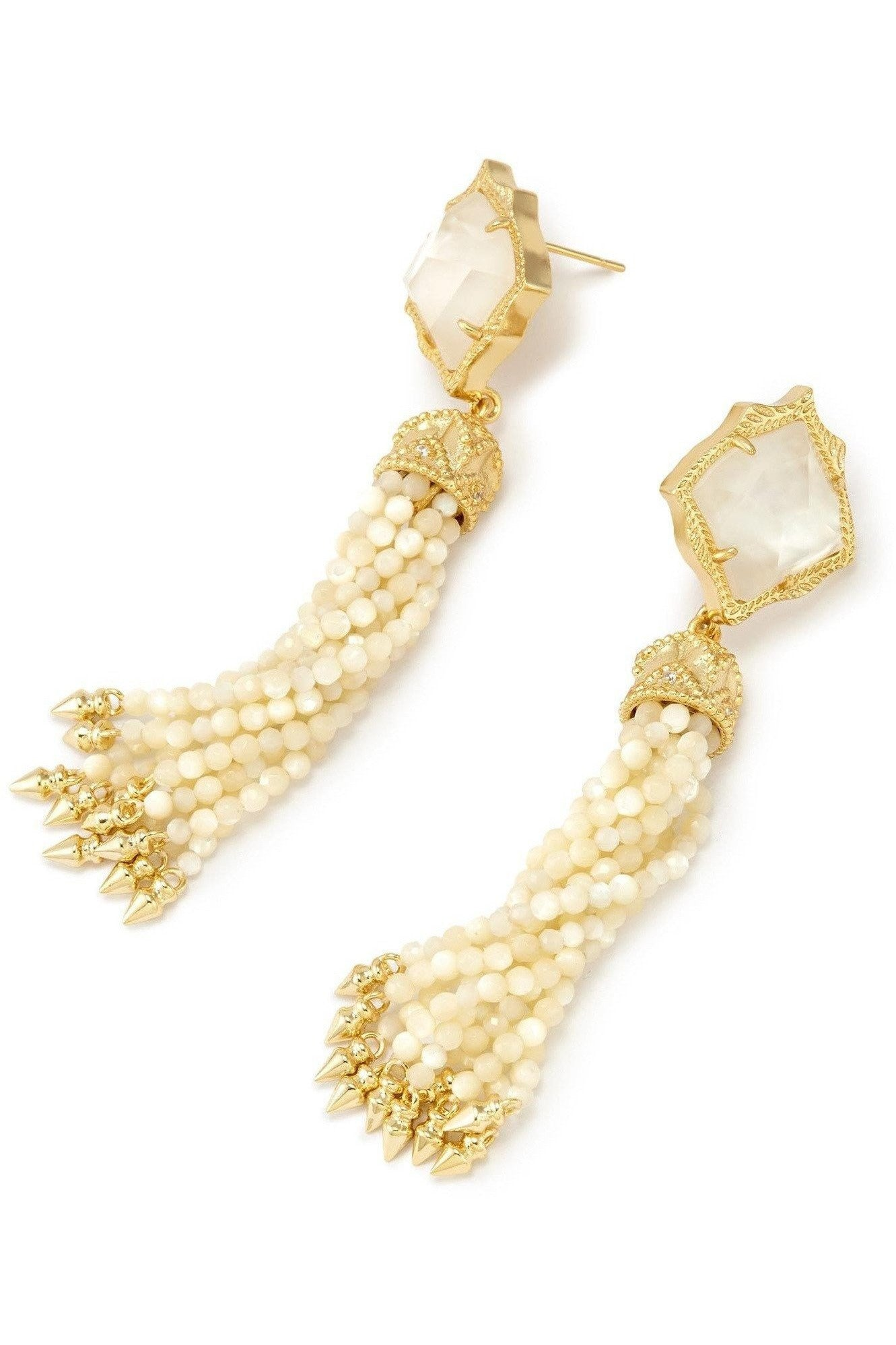 Kendra Scott: Misha Statement Earrings In Ivory Pearl