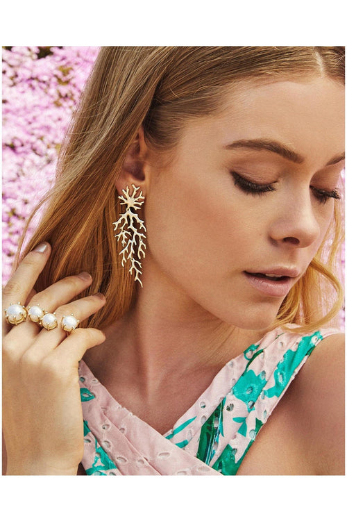 Kendra Scott: Aviana Statement Earrings In Gold