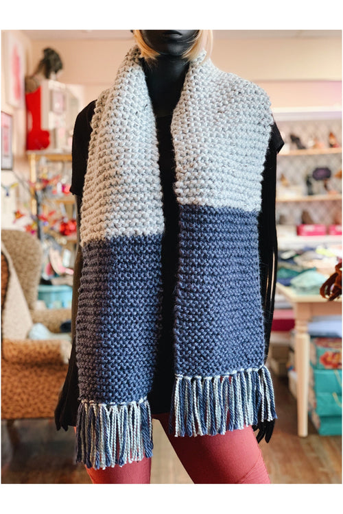 "WITH LOVE FROM JEANIE ""Blue For you"" Scarf"