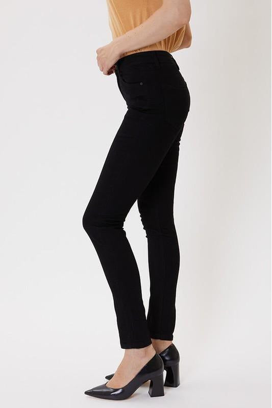 Kan Can USA: High Rise Basic Ankle Skinny Jeans - KC6009BK - RMC Boutique