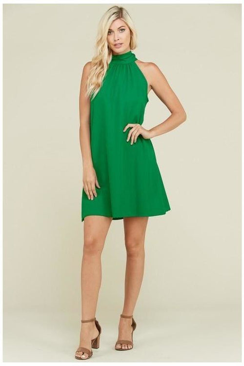 Solid Halter Style Dress