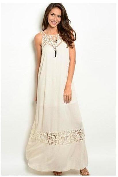 Ark & Co : Crochet and Lace Maxi Dress - RMC Boutique