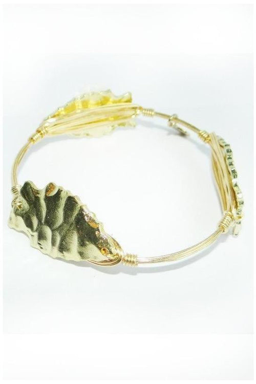 B & B Gold Arrowhead Bangle - RMC Boutique