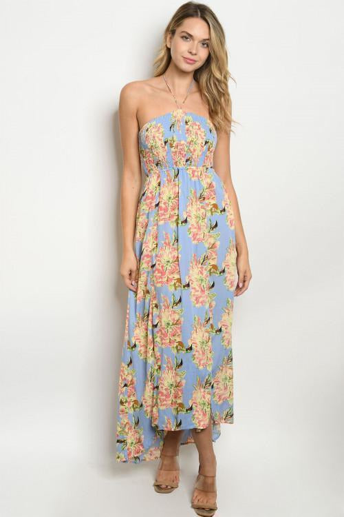 Blissful Blossom Halter Dress - RMC Boutique