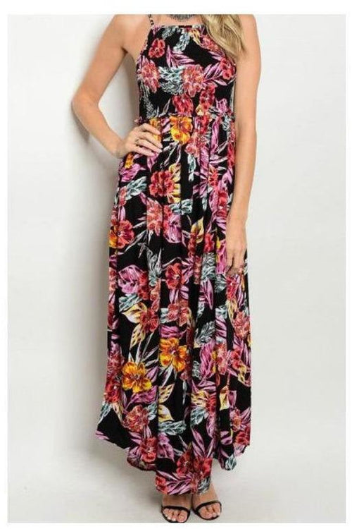Blooming In The Tropics, Maxi Dress