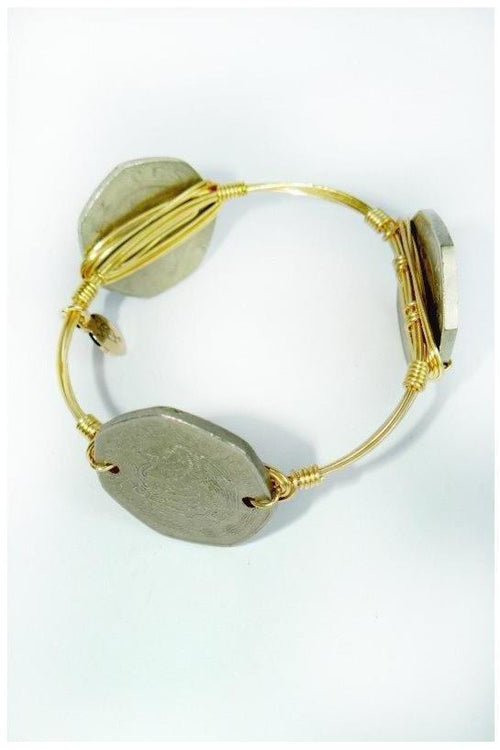 Bourbon & Boweties: Mexican Coin Bangle - RMC Boutique