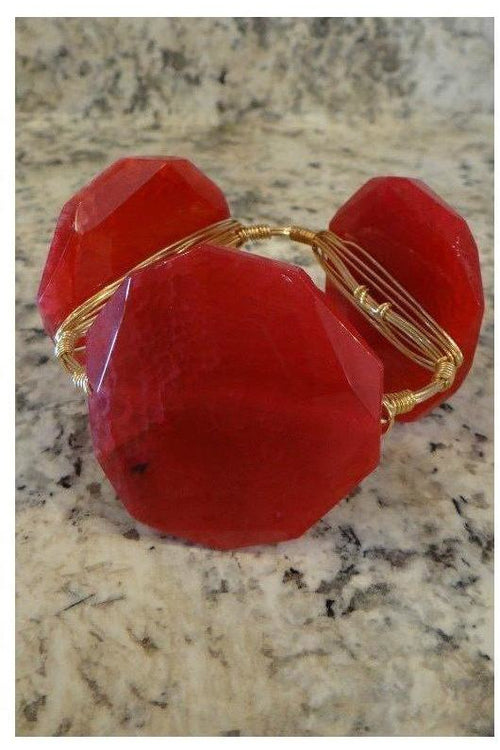 Bourbon and Boweties: Classic Large Hot Pink Agate Bangle - RMC Boutique