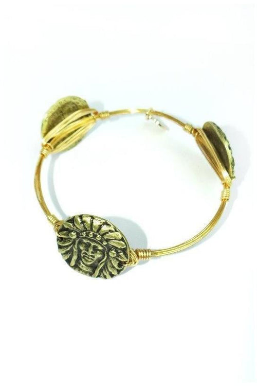 Bourbon and Boweties: Indian Head Bangle - RMC Boutique