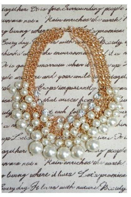 Bubbly Pearl Cluster Statement Necklace - RMC Boutique