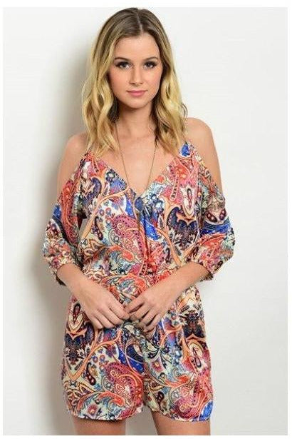 Burst of Color Paisely Romper - RMC Boutique