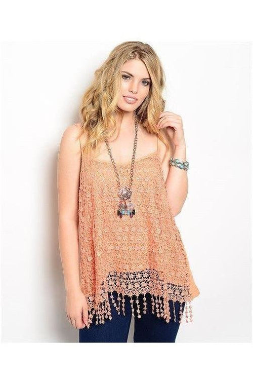 Cascading Lace Top in Blush - RMC Boutique