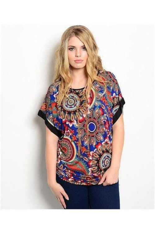 """Unforgettable Dream"" Navy Blue Paisley Top - RMC Boutique"