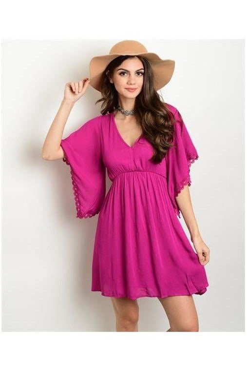 For Those That Wander. Magenta Dress - RMC Boutique