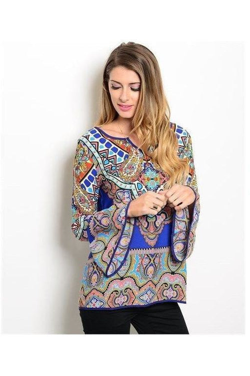 """Majestic Dream "" Bell Sleeve Top - RMC Boutique"
