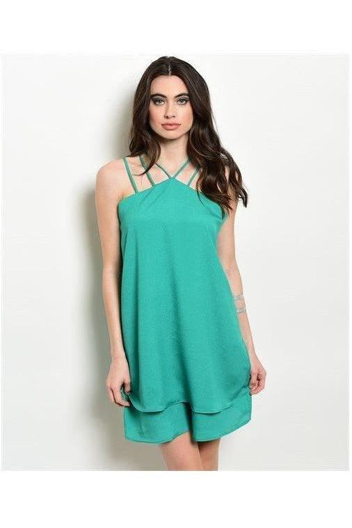 Kelly Green Solid Color Shift Dress - RMC Boutique