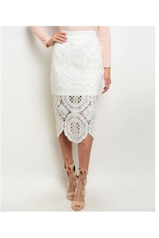 Sweet Bliss Lace Pencil Skirt - RMC Boutique