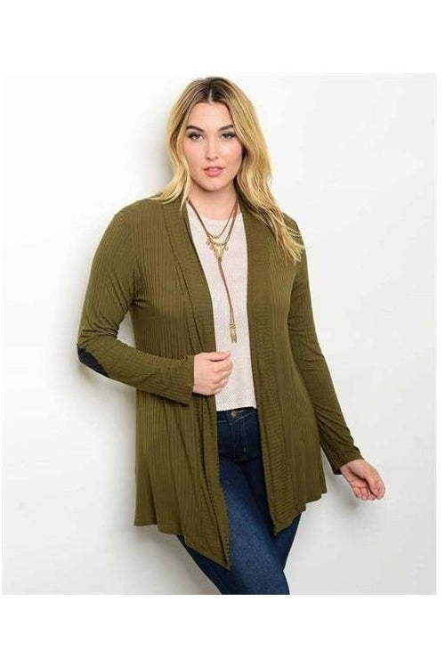 Cozy and Comfy Drape Cardigan, Olive - RMC Boutique