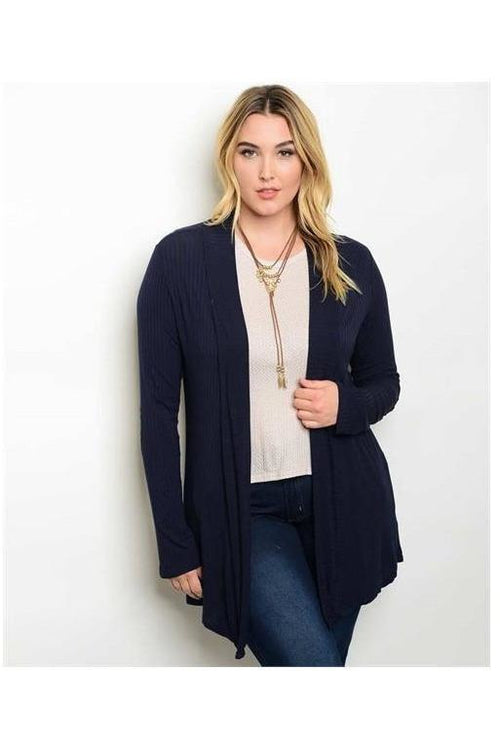 Cozy and Comfy Drape Cardigan, NAVY - RMC Boutique