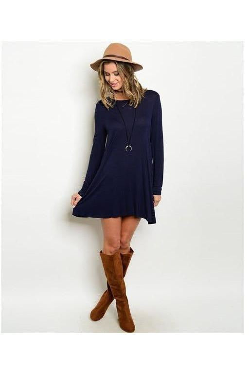 Sweet and Sassy Navy Blue Tunic Dress - RMC Boutique  - 1