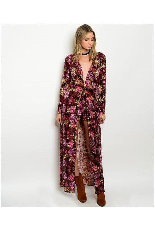 Wild Berry Floral Maxi Dress - RMC Boutique
