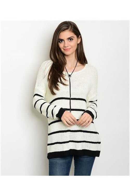 Striped Oversize Sweater - RMC Boutique  - 1