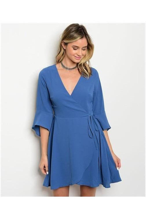The Perfect Hostess, Blue Wrap Dress